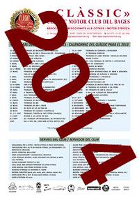 Calendari Classic Motor Club Calendario 2014