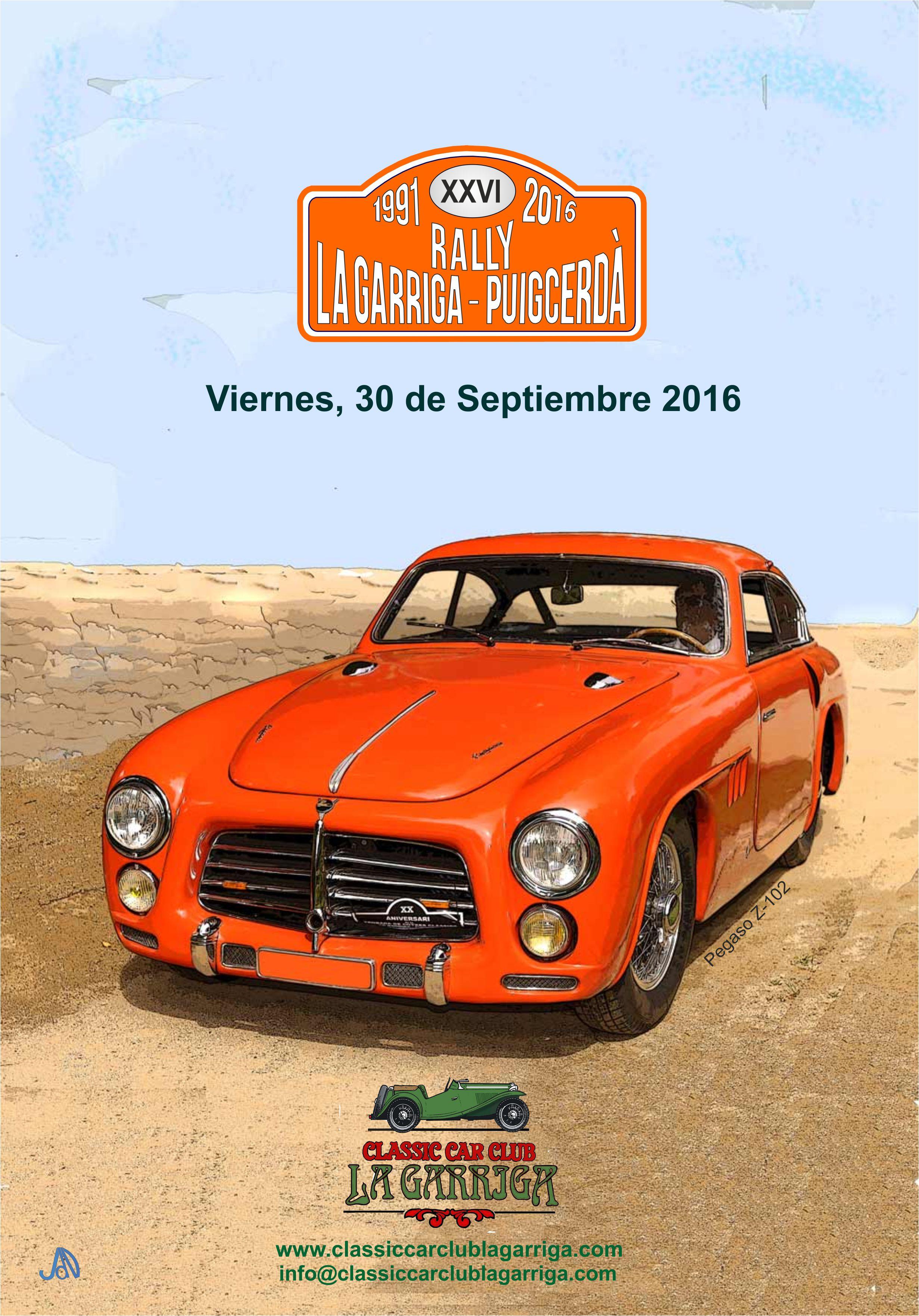 Divendres 30 de setembre se celebrarà la XXVI edició del Rally de Clàssics La Garriga-Puigcerdà, organitzat pel Classic Car Club La Garriga.