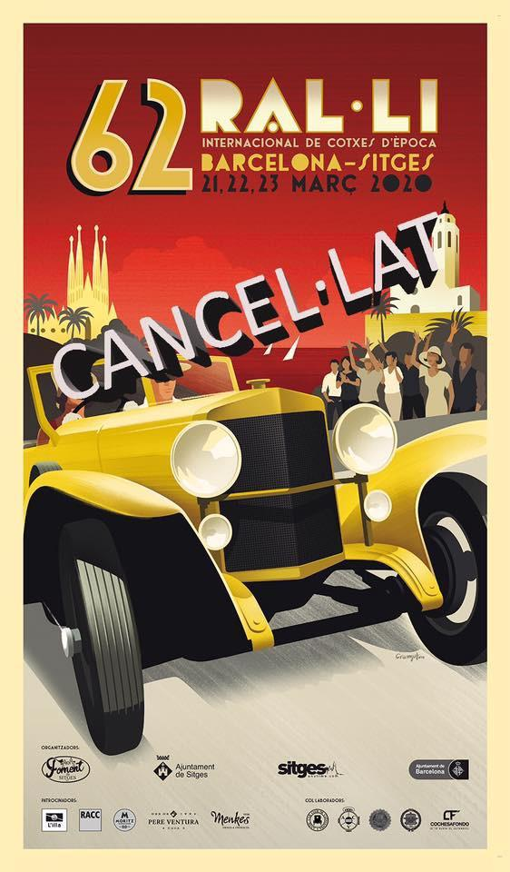 Cancel·lacions de les activitats del Clàssic: Ral·li Barcelona-Sitges i III Trobada Clota's Club