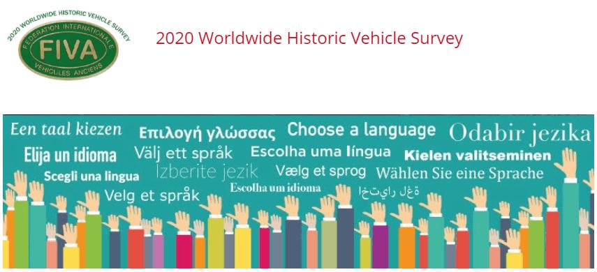 Enquesta mundial de vehicles històrics 2020 de la FIVA