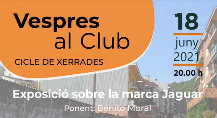 """Nou cicle de xerrades: """"Vespres al Club"""""""